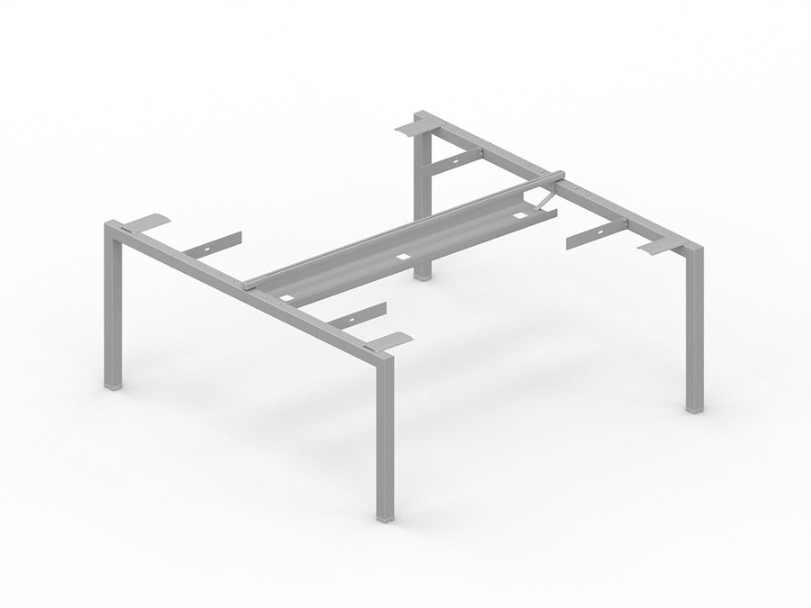Horizontal cable tray for bench desk