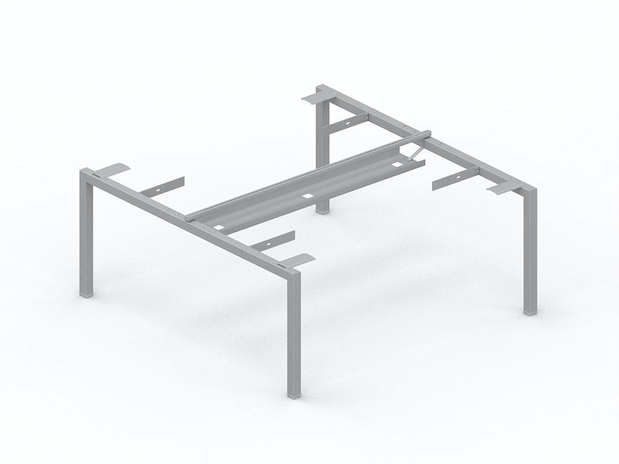 Horizontale kabelgoot voor bench bureau