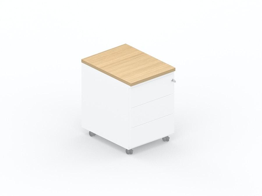 Melamine topblad voor ladeblok op wieltjes