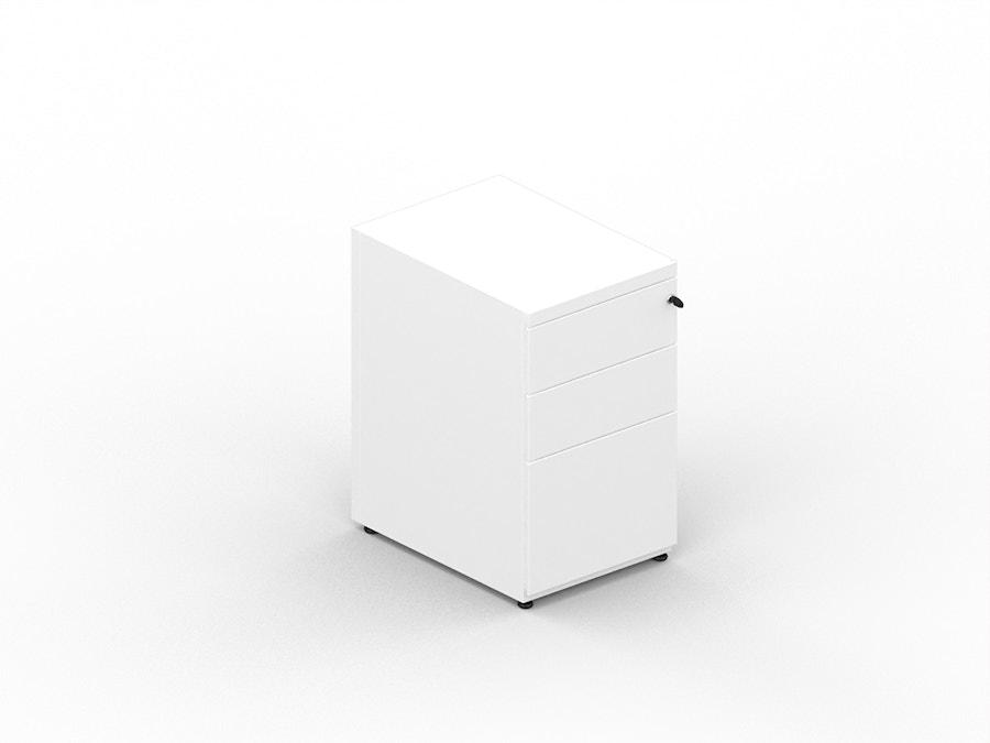 Metal pedestal desk height