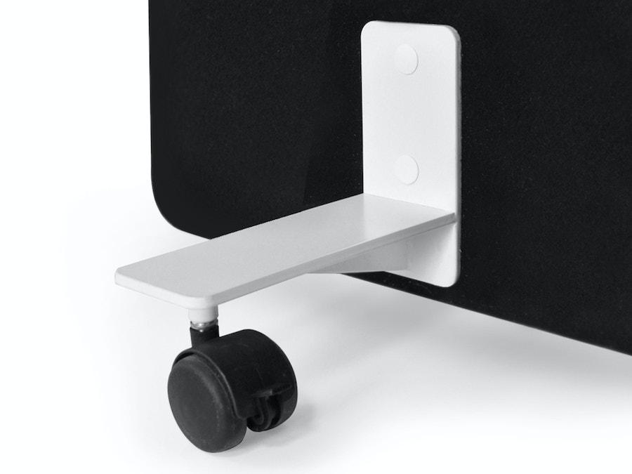 Set van 2 steunvoeten op wieltjes (scheidingswand)