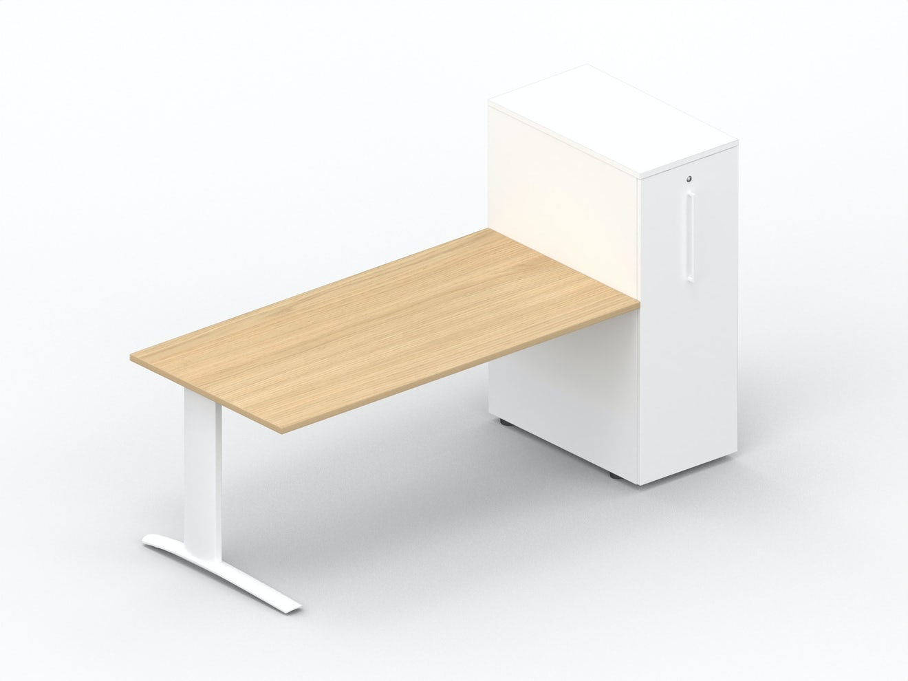 Rectangular desk K1 with extendable storage module