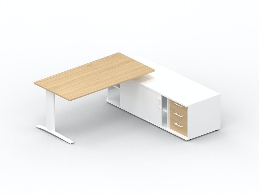 Bureau plan droit K1 sur meuble porteur