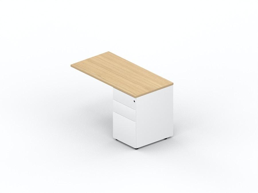Table extension desk on metal pedestal K2