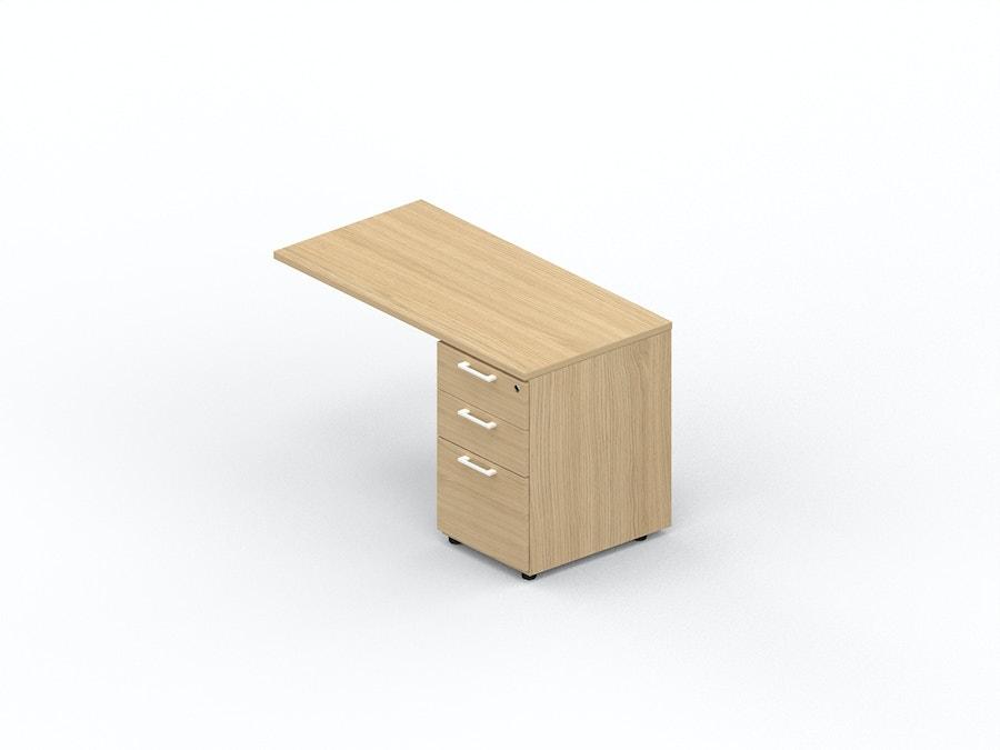 Table extension desk on melamine pedestal K2