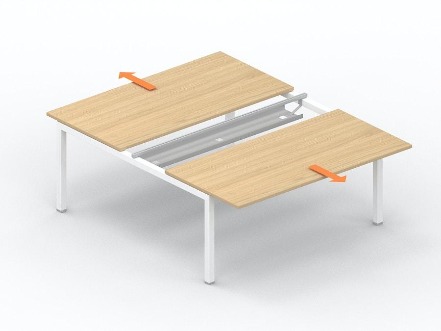 Bench bureau met verschuifbaar werkblad K3