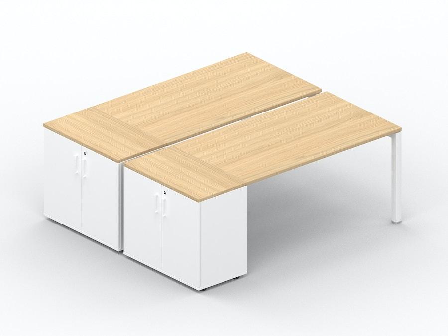 Bench bureau K7 met opbergkast