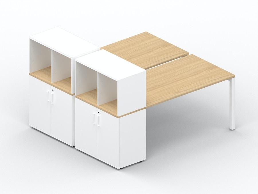 Bench bureau K7 met opbergkast + box