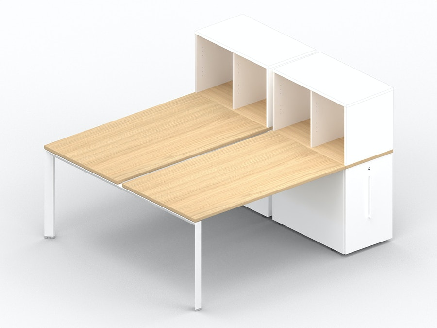 Bench bureau K7 met comfort Tower