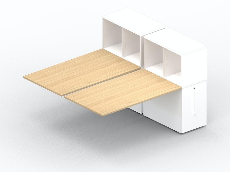 Aanbouw bench bureau K7 met comfort Tower