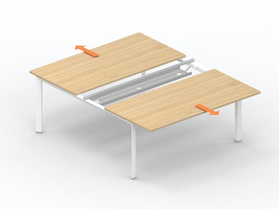 Bench bureau met verschuifbaar werkblad K7