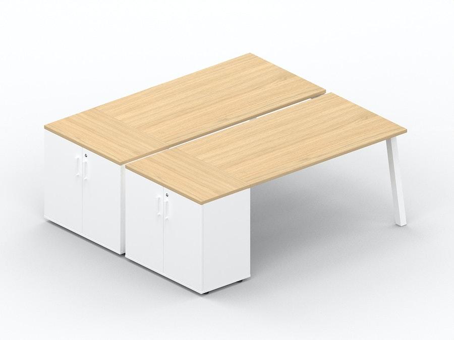 Bench bureau K8 met opbergkast