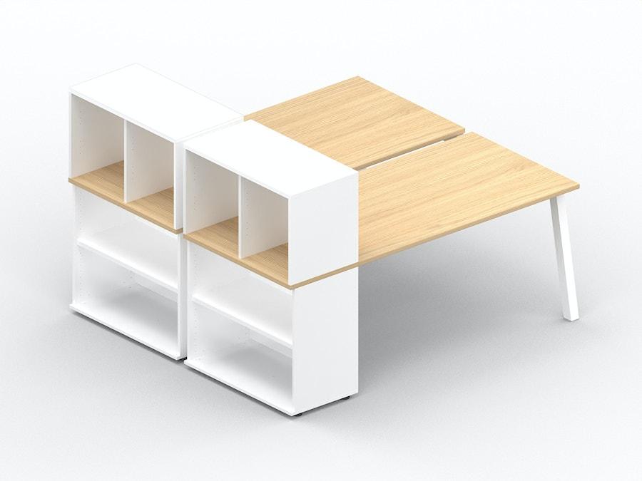 Bench bureau K8 met opbergkast + box