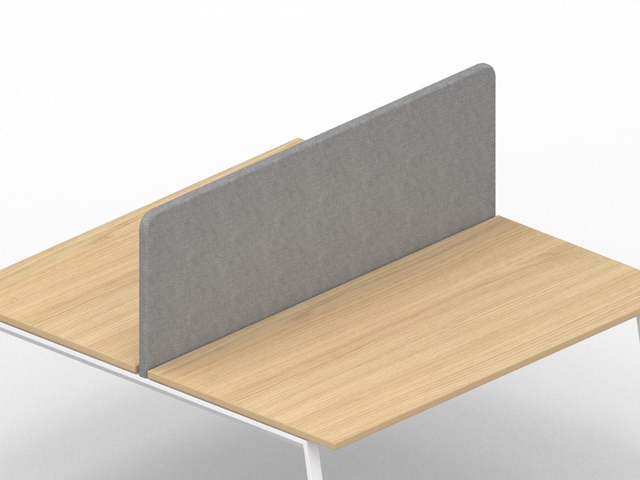 Akoestisch privacy-paneel voor bench