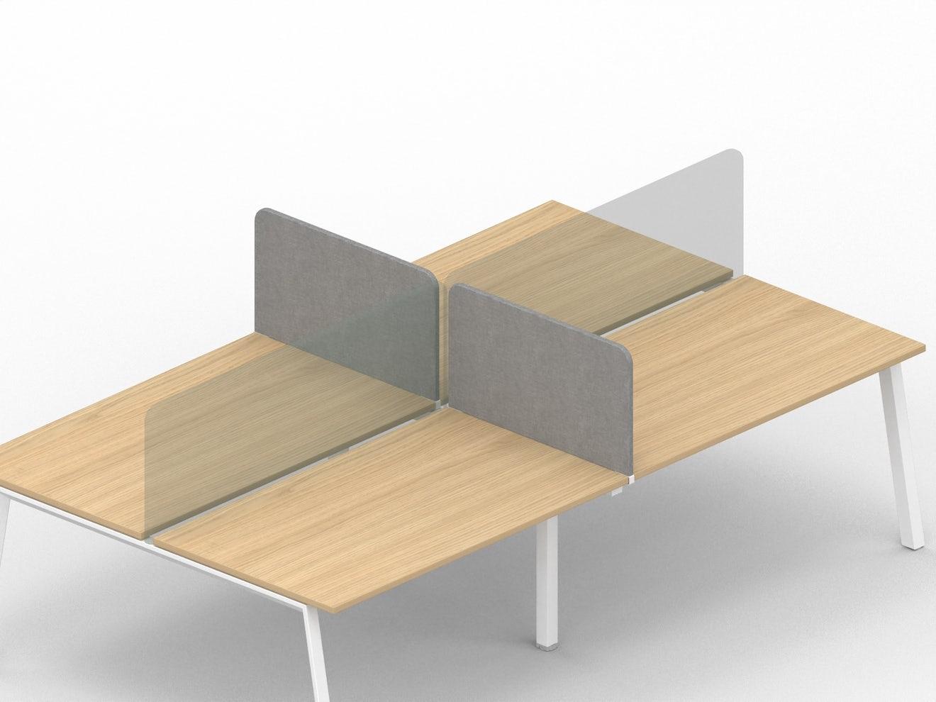 Set van 2 akoestische privacy-panelen voor bench