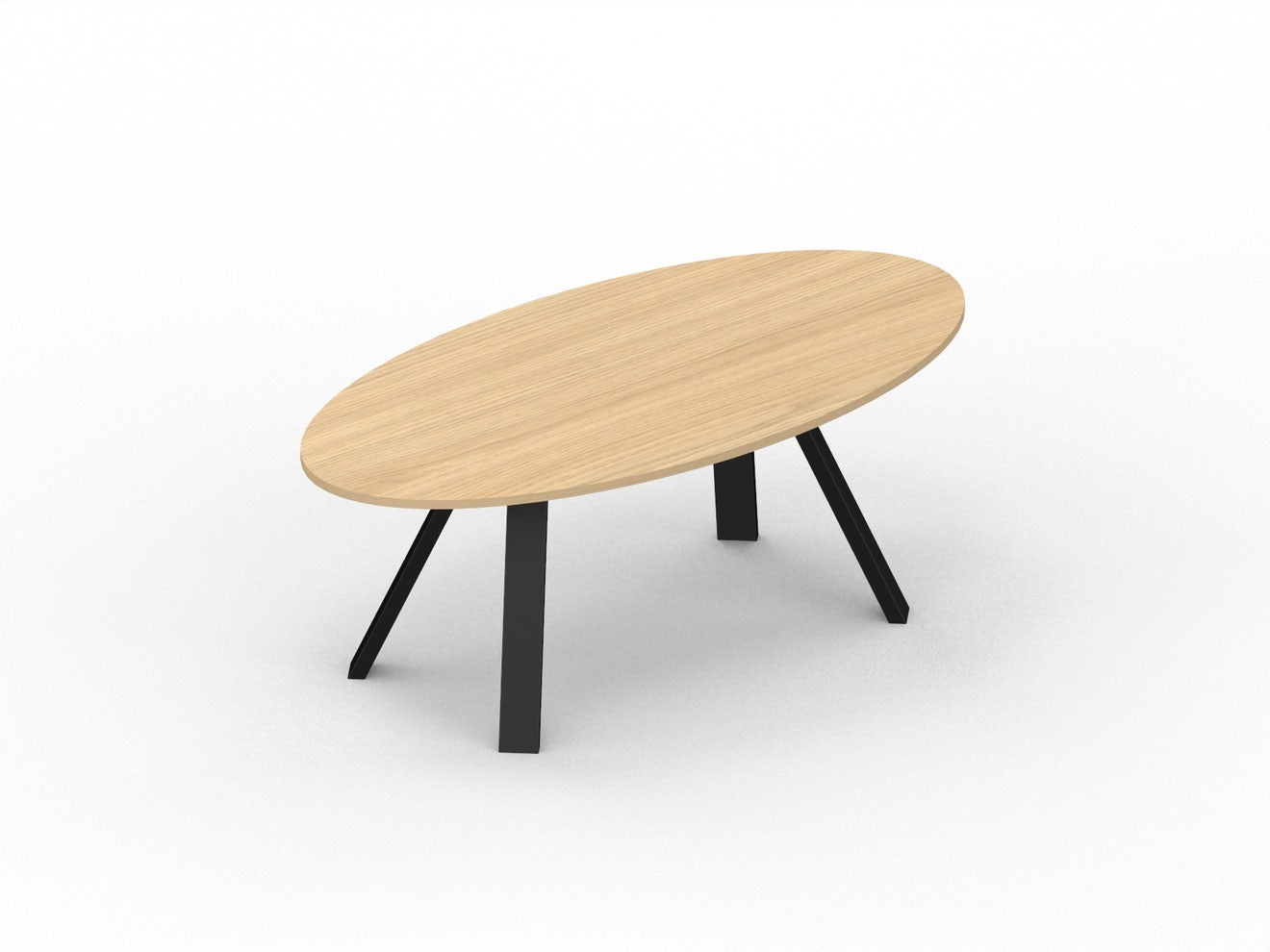 Ovale vergadertafel X3