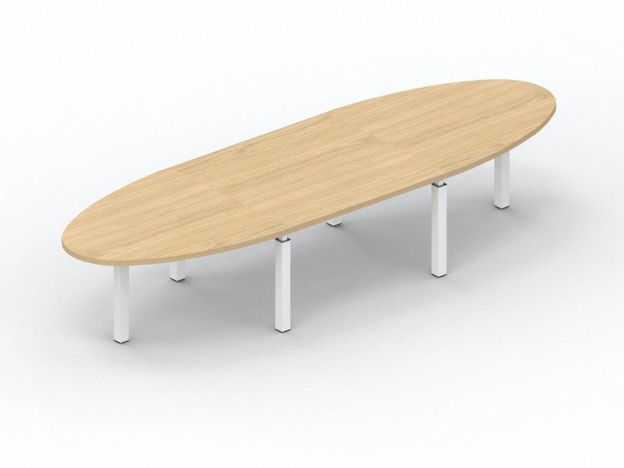 Ovale vergadertafel X4