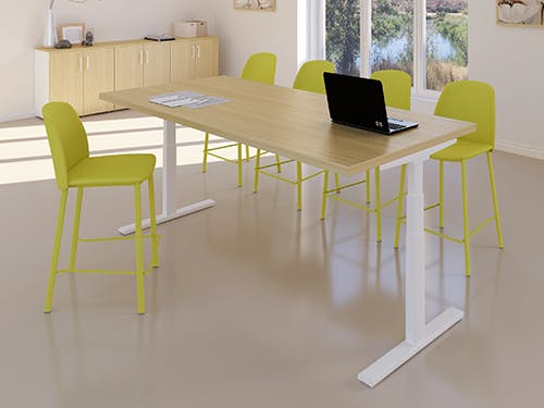 Sit stand meeting tables