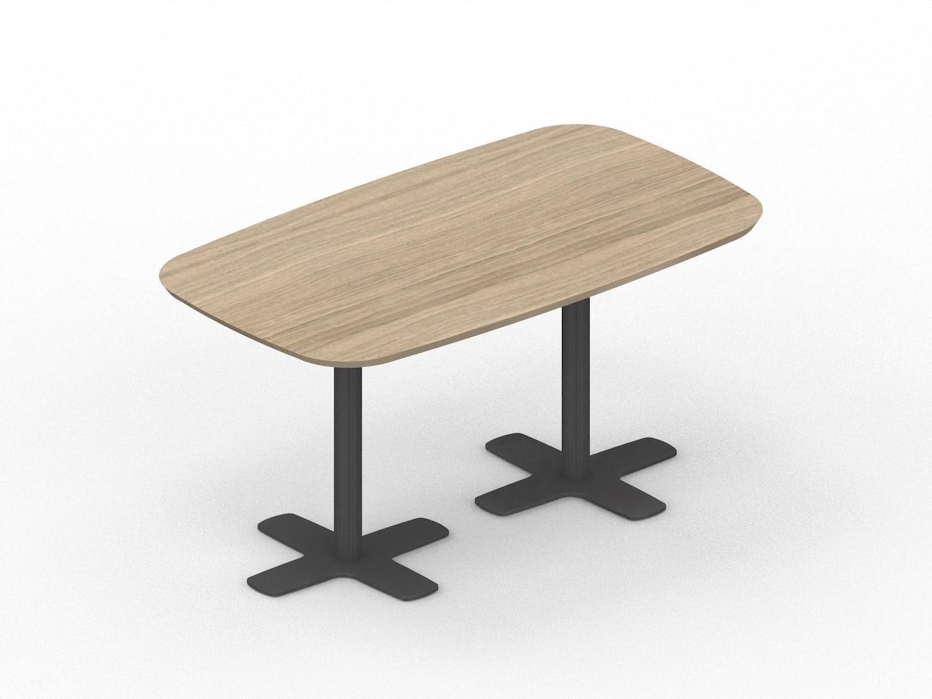 Rechthoekige tafel met afronding STREAM LINE