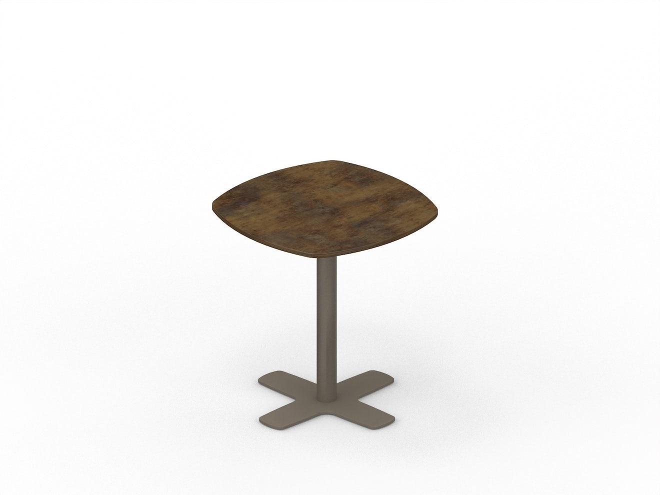 Vierkante tafel met afronding STREAM LINE
