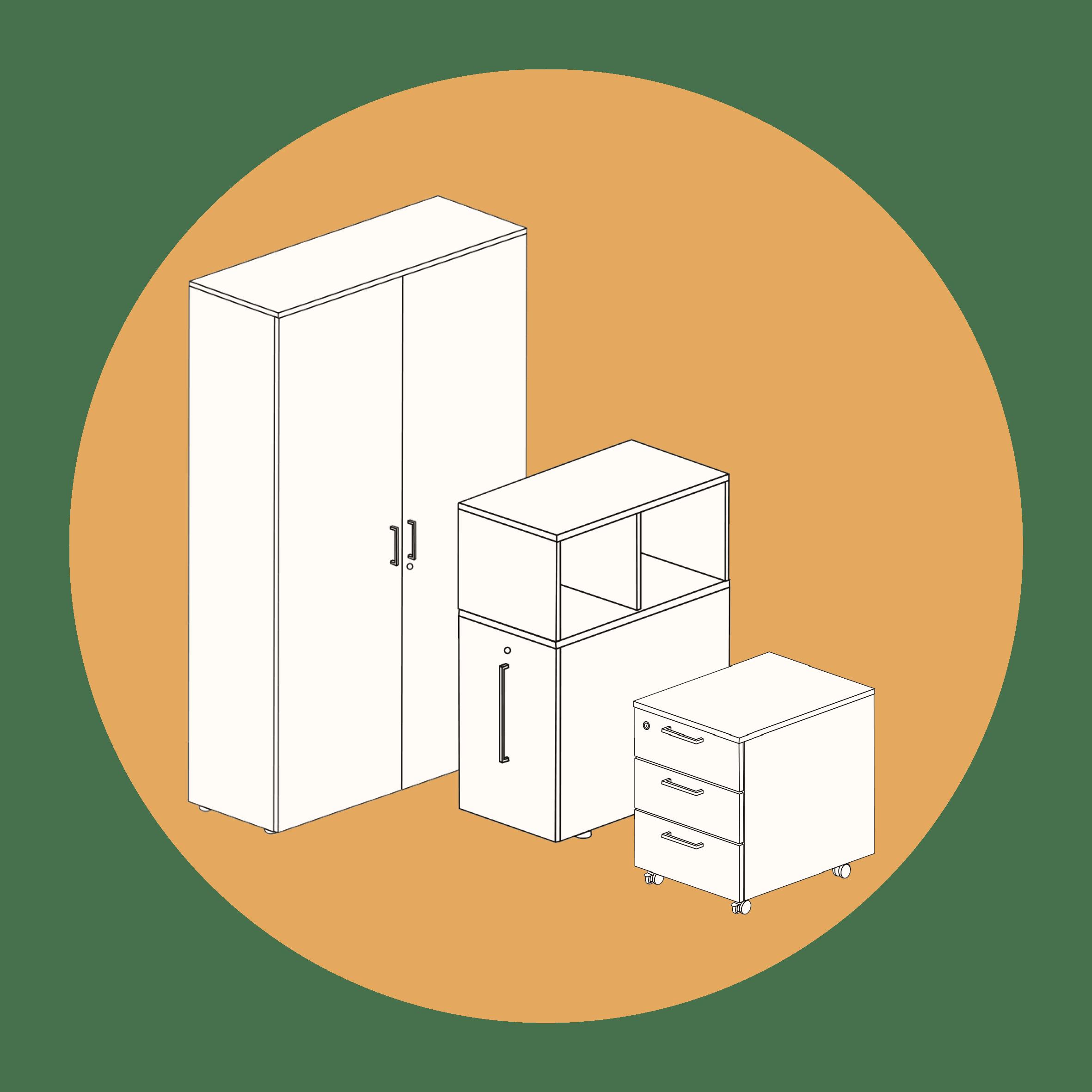 Melamine kasten